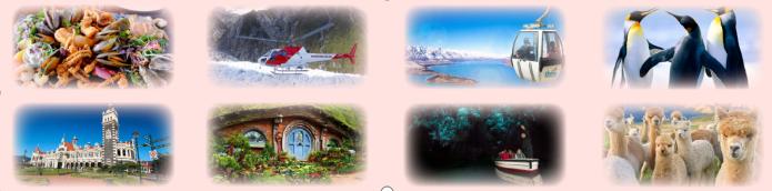 穿越新西兰南北岛11晚14日(淘波三宝+凯库拉寻鲸+米弗峡湾+瓦纳卡湖+库克海峡游轮+皇后镇充足自由活动)